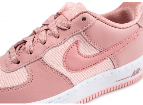 Chaussures Nike Air Force 1 LV8 rose junior vue dessus