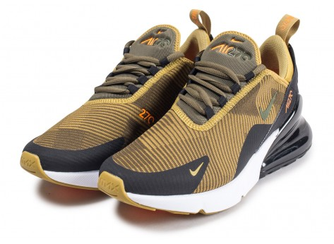 Chaussures Nike Air Max 270 Knit Jacquard Medium Olive junior  vue intérieure