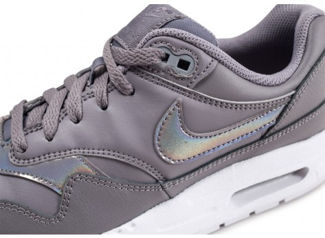 Chaussures Nike Air Max 1 grise et blanche junior vue dessus