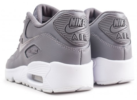 Chaussures Nike Air Max 90 Leather grise junior vue dessous