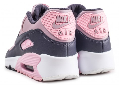 Chaussures Nike Air Max 90 Leather rose junior vue dessous