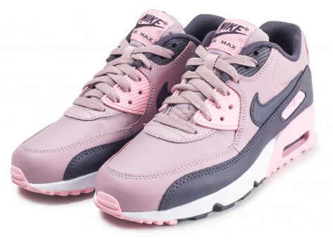 Chaussures Nike Air Max 90 Leather rose junior vue intérieure