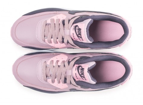 Chaussures Nike Air Max 90 Leather rose junior vue arrière