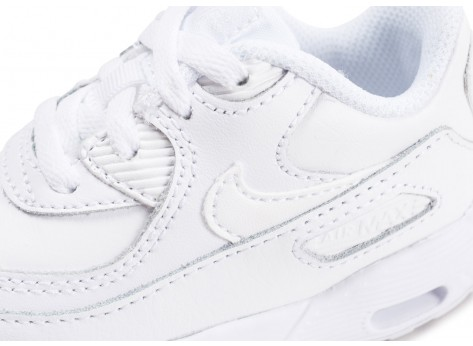 Chaussures Nike Air Max 90 Leather blanche bébé vue dessus