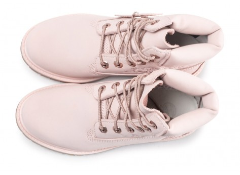 Chaussures Timberland 6Inch Premium Boots rose femme vue dessous