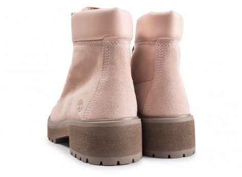 Chaussures Timberland Carnaby Cool rose femme vue dessous