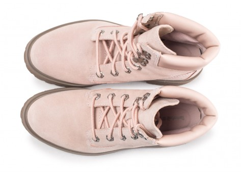 Chaussures Timberland Carnaby Cool rose femme vue arrière