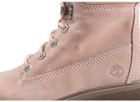 Chaussures Timberland Carnaby Cool rose femme vue dessus