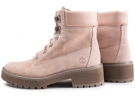 Chaussures Timberland Carnaby Cool rose femme vue extérieure
