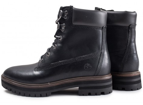 Chaussures Timberland London Square 6in noire vue extérieure