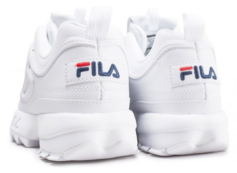 Chaussures Fila Disruptor ll homme blanche vue dessous