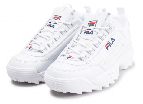 Chaussures Fila Disruptor ll homme blanche vue intérieure