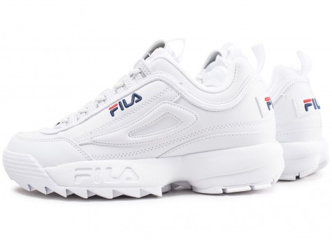 Chaussures Fila Disruptor ll homme blanche vue extérieure