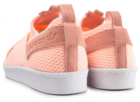 Chaussures adidas Superstar Slip-on orange femme vue dessous