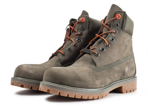 Chaussures Timberland 6-Inch Premium Boots kaki vue intérieure