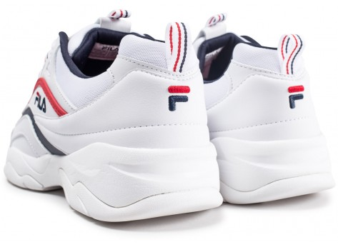 Chaussures Fila Ray blanche vue dessous