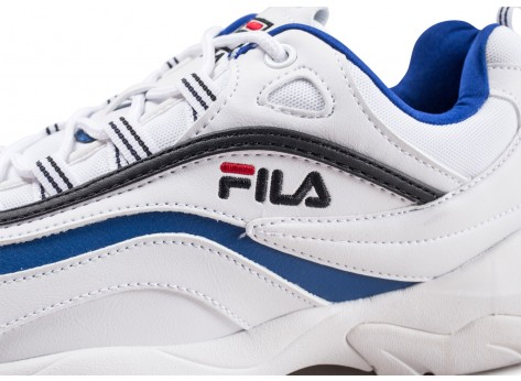 Chaussures Fila Ray blanche et bleue  vue dessus