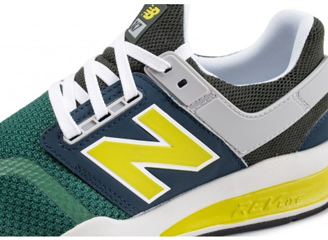 Chaussures New Balance MS247NMB vert  vue dessus