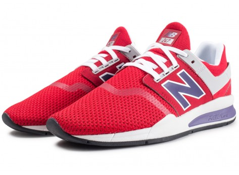 Chaussures New Balance MS247NMT rouge  vue intérieure