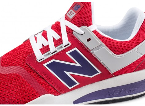 Chaussures New Balance MS247NMT rouge  vue dessus