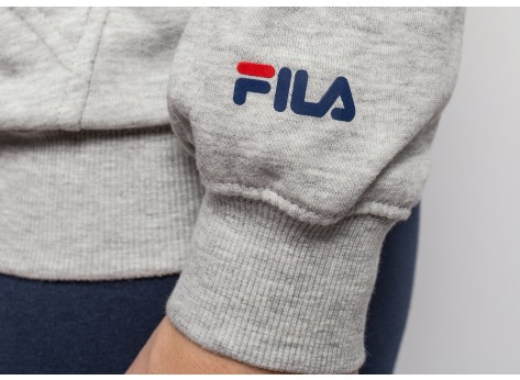 Sweat Fila Sweat à capuche Classic Logo gris mixte