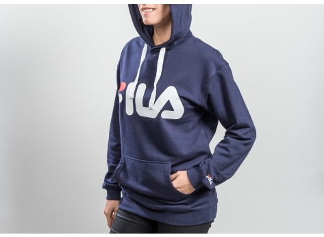 Sweat Fila Sweat à capuche Classic Logo bleu marine mixte
