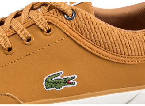 Chaussures Lacoste Angha marron vue dessus