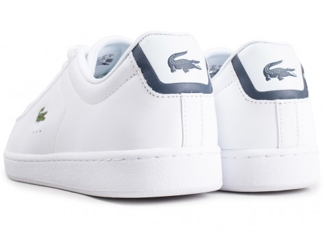 Chaussures Lacoste Carnaby Evo cuir blanc vue dessous