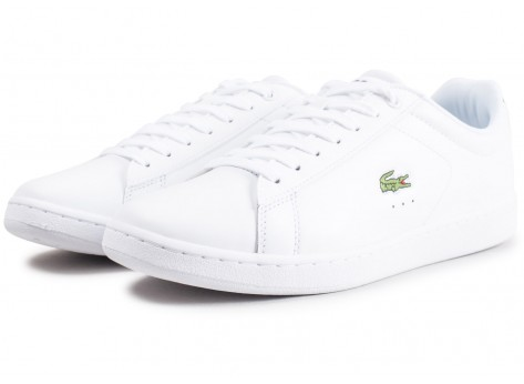 Chaussures Lacoste Carnaby Evo cuir blanc vue intérieure