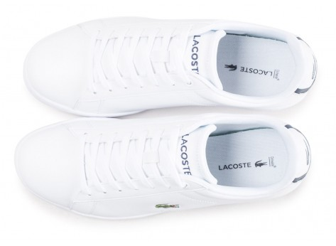 Chaussures Lacoste Carnaby Evo cuir blanc vue arrière