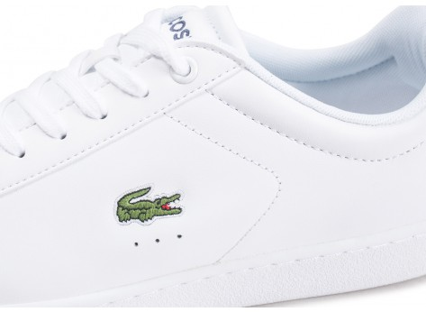 Chaussures Lacoste Carnaby Evo cuir blanc vue dessus