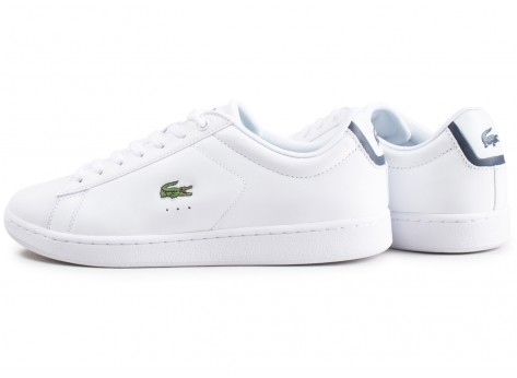 Chaussures Lacoste Carnaby Evo cuir blanc vue extérieure