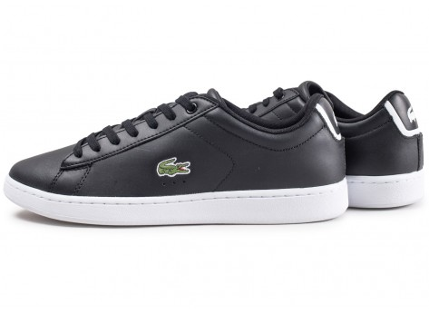 Chaussures Lacoste Carnaby EVO noires vue extérieure