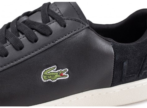 Chaussures Lacoste Carnaby Evo noire vue dessus