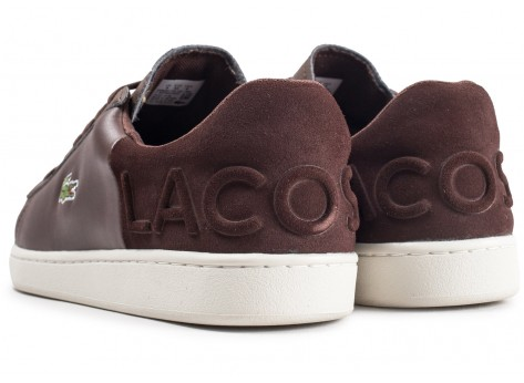 Chaussures Lacoste Carnaby Evo marron vue dessous