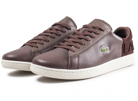 Chaussures Lacoste Carnaby Evo marron vue intérieure
