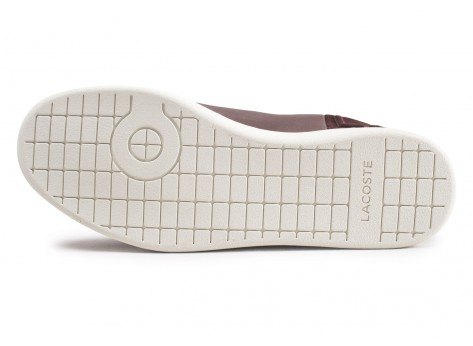 Chaussures Lacoste Carnaby Evo marron vue avant