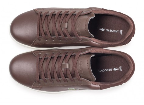 Chaussures Lacoste Carnaby Evo marron vue arrière