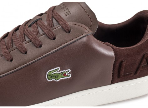 Chaussures Lacoste Carnaby Evo marron vue dessus