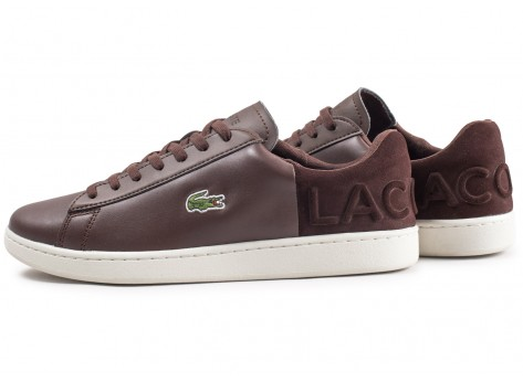 Chaussures Lacoste Carnaby Evo marron vue extérieure
