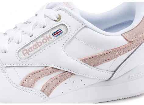 Chaussures Reebok Phase 1 Pro X Montana Cans blanche et rose vue dessus