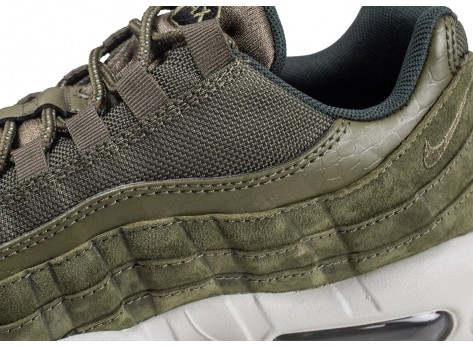 Chaussures Nike Air Max 95 Olive Canvas  vue dessus