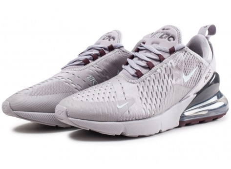 Chaussures Nike Air Max 270 grise vue intérieure