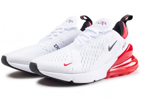 Chaussures Nike Air Max 270 blanche et rouge  vue intérieure