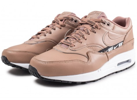 Chaussures Nike Nike Air Max 1 SE Overbranded beige femme vue intérieure