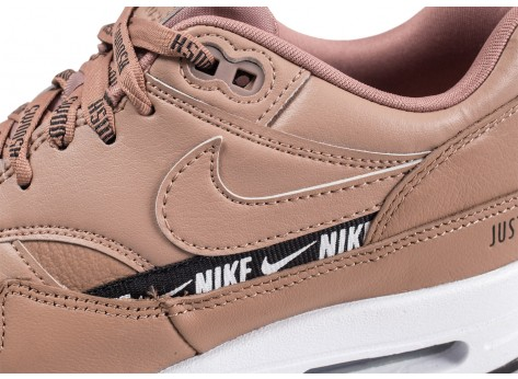 Chaussures Nike Nike Air Max 1 SE Overbranded beige femme vue dessus