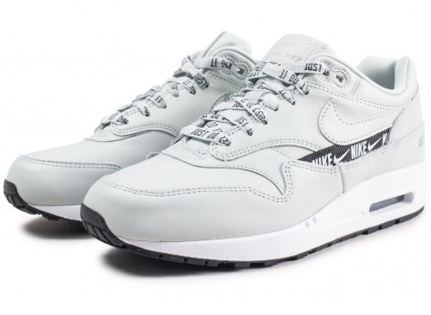 Chaussures Nike Air Max 1 SE Overbranded argent femme vue intérieure