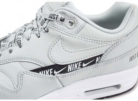 Chaussures Nike Air Max 1 SE Overbranded argent femme vue dessus