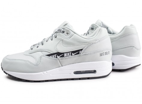 Chaussures Nike Air Max 1 SE Overbranded argent femme vue extérieure