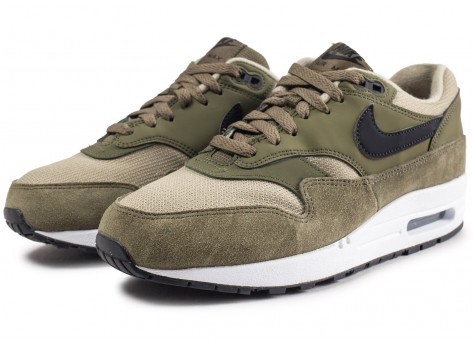 Chaussures Nike Air Max 1 olive femme vue intérieure